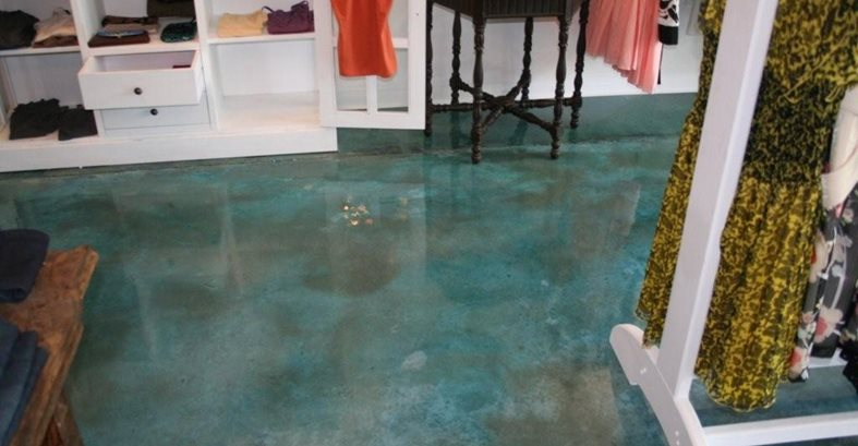 Aqua, Store Concrete Floors Progressive Concrete Coatings Wilmington, NC