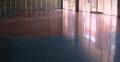 Blue, Brown Concrete Floors Cuviello Concrete Arnold, MD