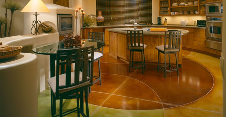 Circles Warm Concrete Floors Progressive Hardscapes Phoenix Az