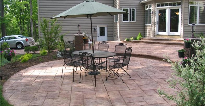 colored concrete patios concrete patios architectural concrete design levittown pa - Concrete Patio Design Ideas