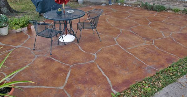 Flagstone, Tan Concrete Patios Arti Crete League City, TX