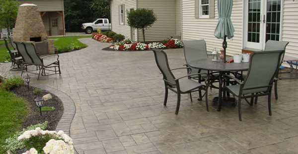 patio designs - tips for placement and layout plans for concrete ... - Concrete Slab Patio Ideas