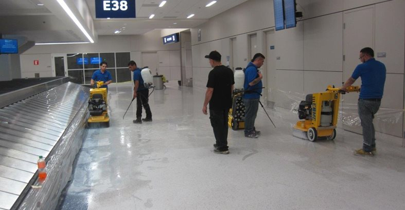 Floors Restored At Dfw Airport The Concrete Network