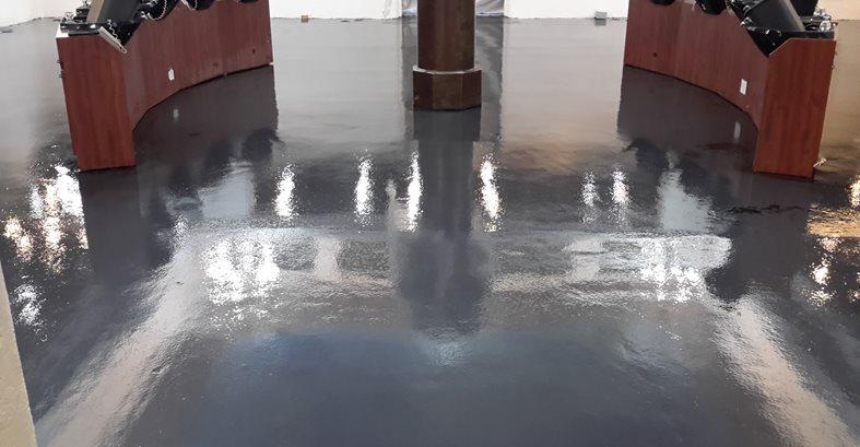Black Epoxy Basecoat Concrete Pool Decks ConcreteNetwork.com