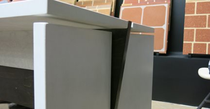 Concrete Desk Made By Cci Students The Concrete Network