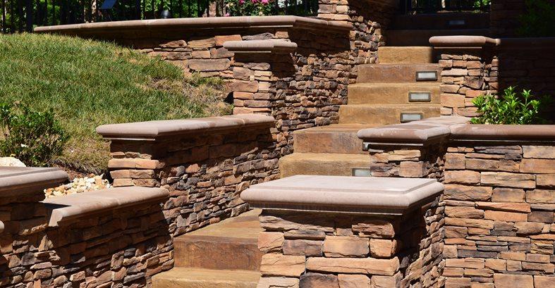 Concrete Stairway, Stone Walls Concrete Pool Decks Greystone Masonry Inc Stafford, VA