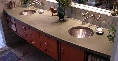 Curved, Double Sink Concrete Pool Decks Liquid Stone Designs Lenexa, KS