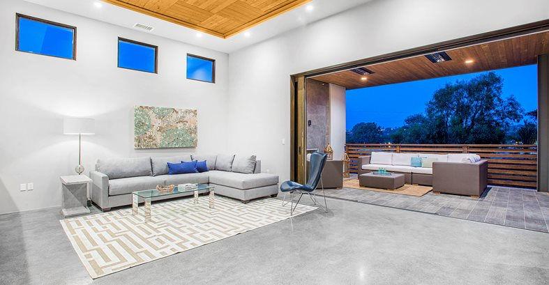 Disappearing Door Systems Concrete Pool Decks Envision Concrete Escondido, CA