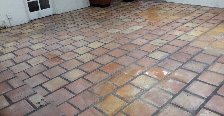 Grouted Saltillo Tile Concrete Pool Decks ConcreteNetwork.com