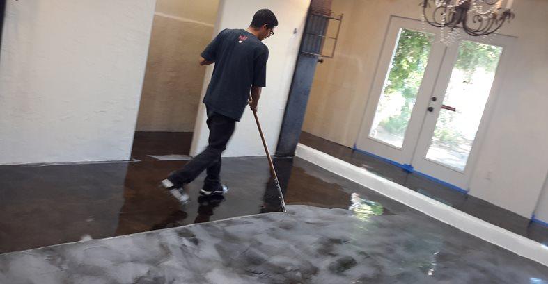 Salon Floor Makeover The Concrete Network