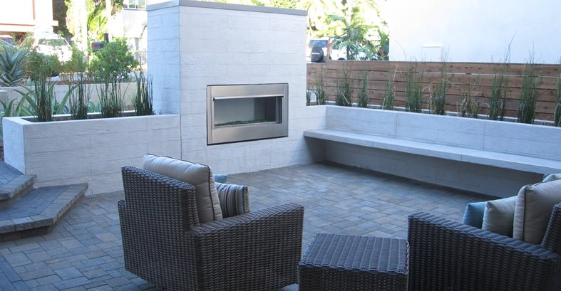 Outodoor Fireplace Concrete Pool Decks ConcreteNetwork.com
