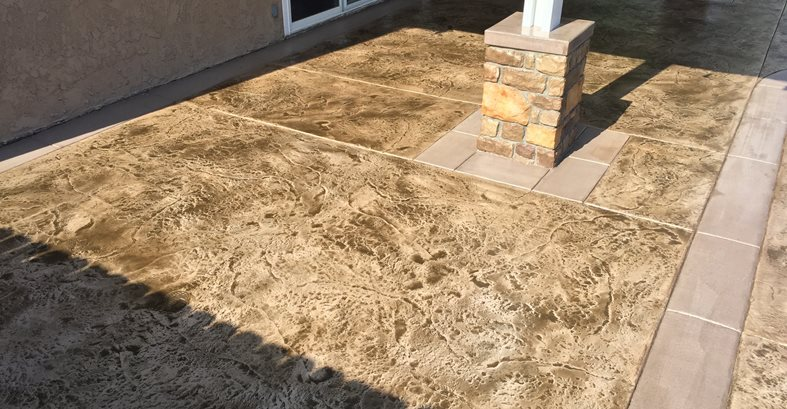 Texturing Stamp, Rough Stone Texture Concrete Pool Decks KB Concrete Staining Norco, CA