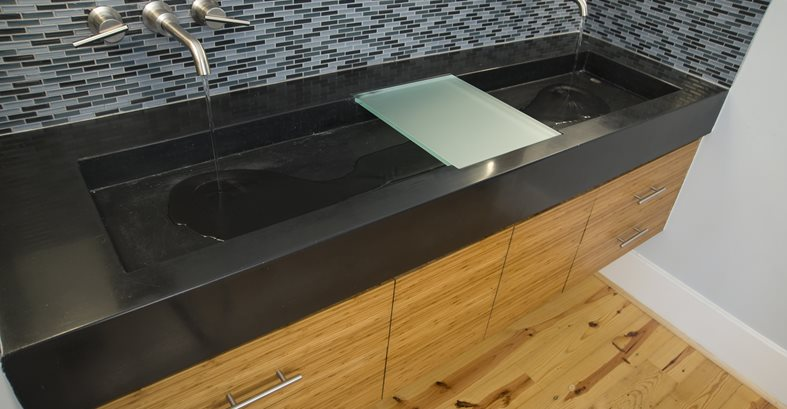 Black Double Sink Concrete Sinks Reaching Quiet Charlotte, NC
