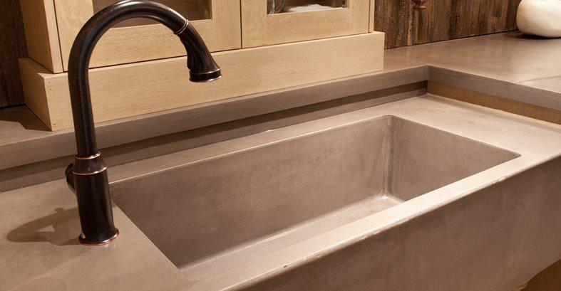 Cast Concrete Sink Concrete Sinks JM Lifestyles Randolph, NJ