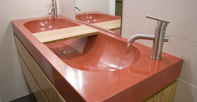 Concrete Trough Basin Sink Concrete Sinks Reaching Quiet Charlotte, NC