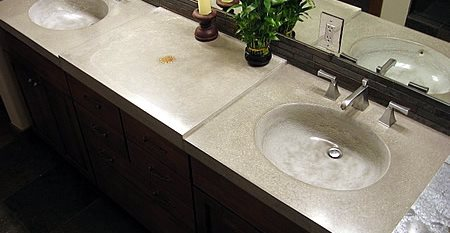 Double, Stone Concrete Sinks FORM concrete design Vail, CO