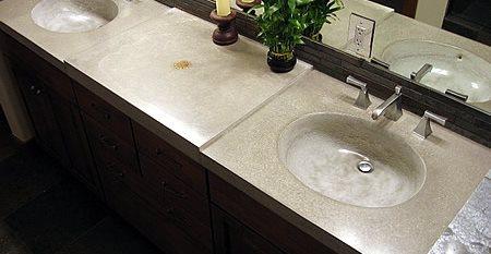 Double, Stone Concrete Sinks FORM concrete design Vail, CO