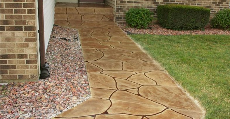 Overlay, Flagstone Concrete Walkways Special Effex Loves Park, IL