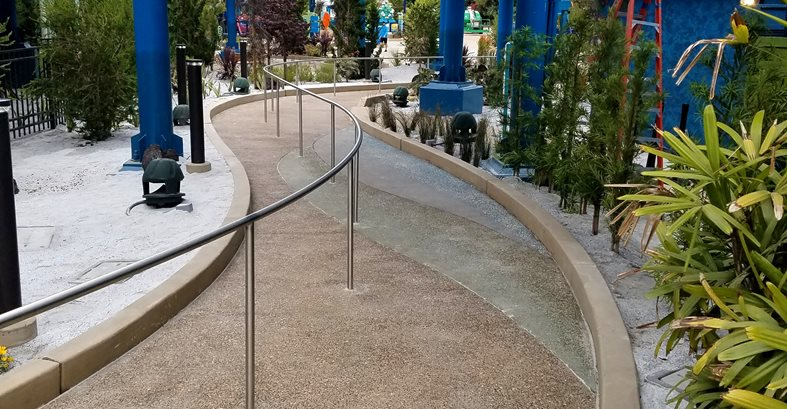Sea World, Exposed Aggregate, Walkway Exposed Aggregate Concepts In Concrete Const. Inc. San Diego, CA