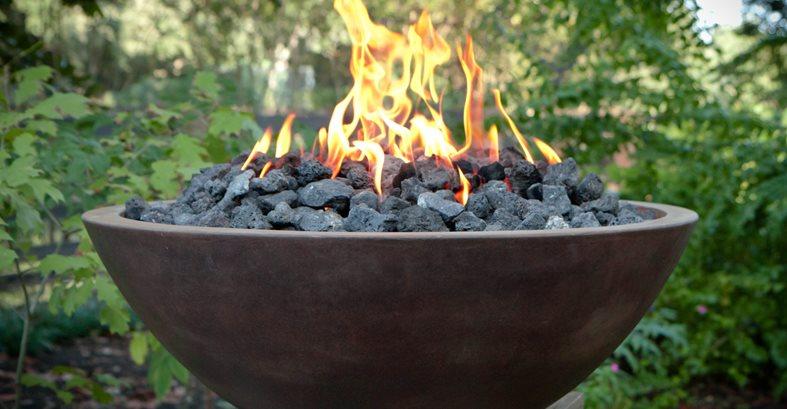 Cast Concrete Fire Bowl Fireplace Surrounds C.S.W. Creations Simonton, TX