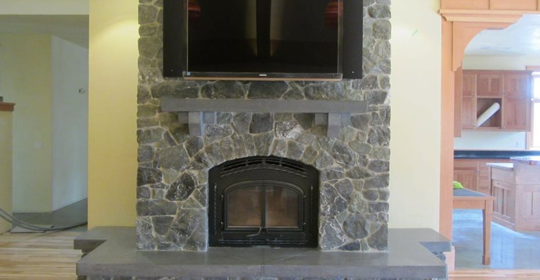 Custom Concrete Hearth And Mantle Fireplace Surrounds Alchemy Construction Inc Arcata, CA
