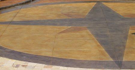 Colored Driveway Floor Logos and More Rose Concrete Coatings LLC Riverton, UT