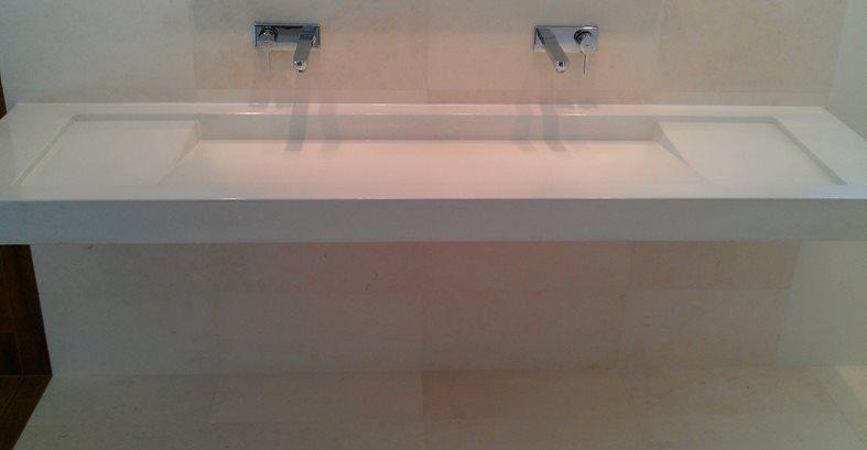 Concrete, Sink, White Floor Logos and More DC Custom Concrete San Diego, CA