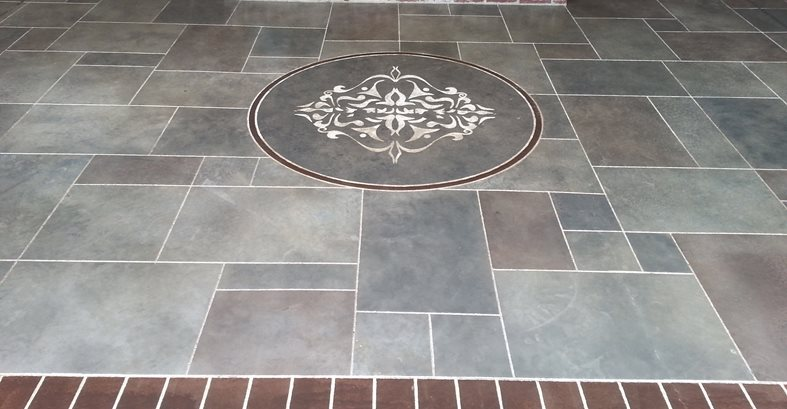 Custom Faux Designs And Concrete Engraving Floor Logos and More Custom Faux & Decorative Concrete