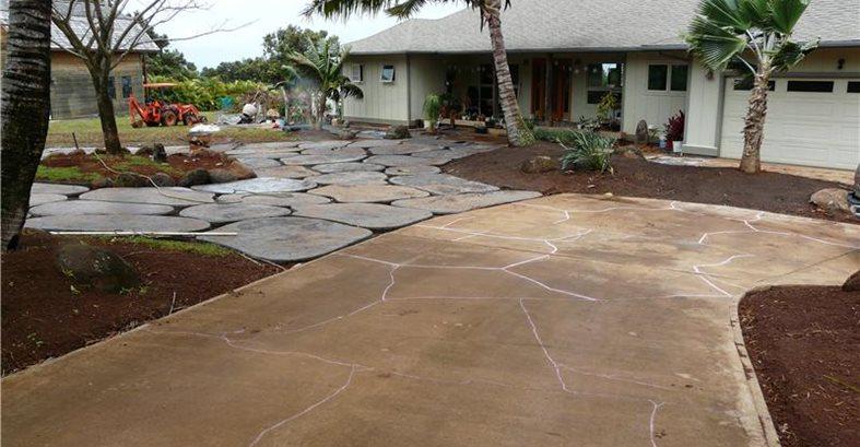 Concrete Lava Rock Driveway The Concrete Network