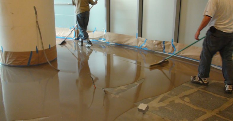 Tape Off, Overlay Application Floor Logos and More Madstone LLC Barrington, RI