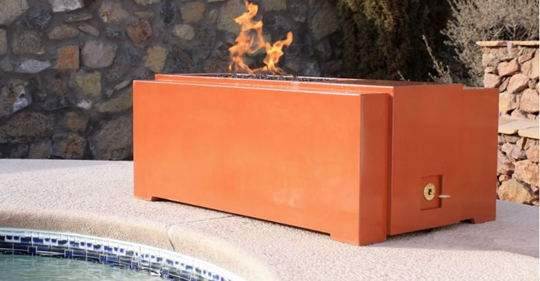 Orange Concrete Fire Pit Outdoor Fire Pits Homcrete Inc El Paso, TX