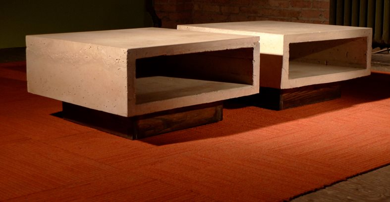 Concrete Ipe Coffee Tables Outdoor Furniture Kerr Concrete Evanston, IL