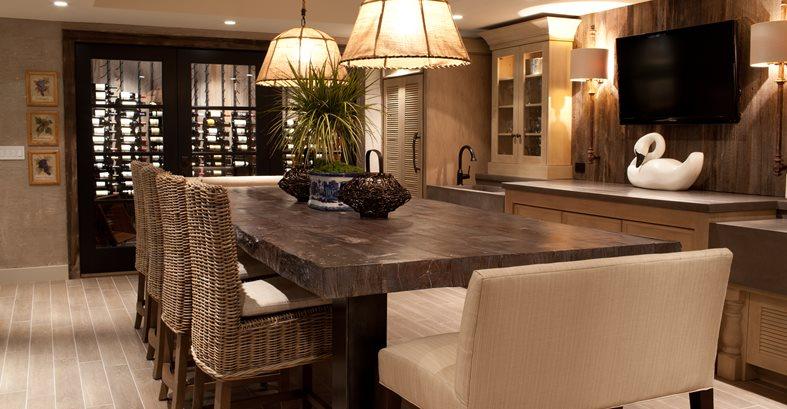 Faux Bois Table, Concrete Dining Table Outdoor Furniture JM Lifestyles Randolph, NJ