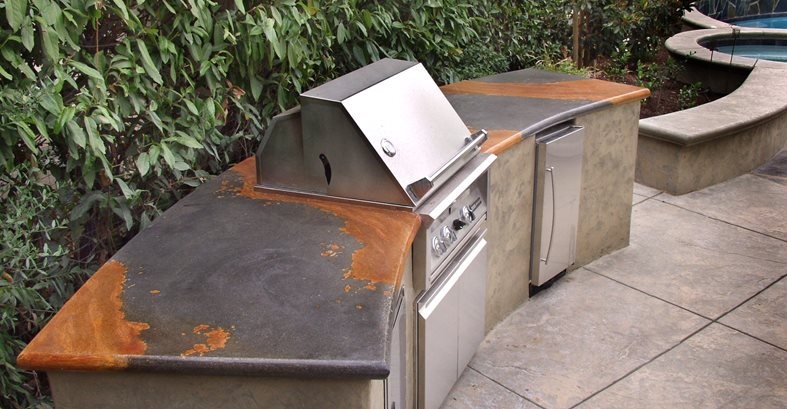 Two Tone, Bbq Outdoor Kitchens Tom Ralston Concrete Santa Cruz, CA
