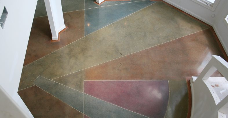 Artistic Concrete Flooring : Polishing concrete benefits the network
