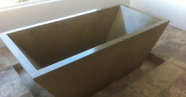 Bathtub, Concrete, Black Site DC Custom Concrete San Diego, CA