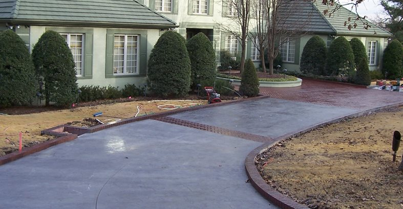 Brick, Curb Site Solid Rock Concrete Services Gravette, AR