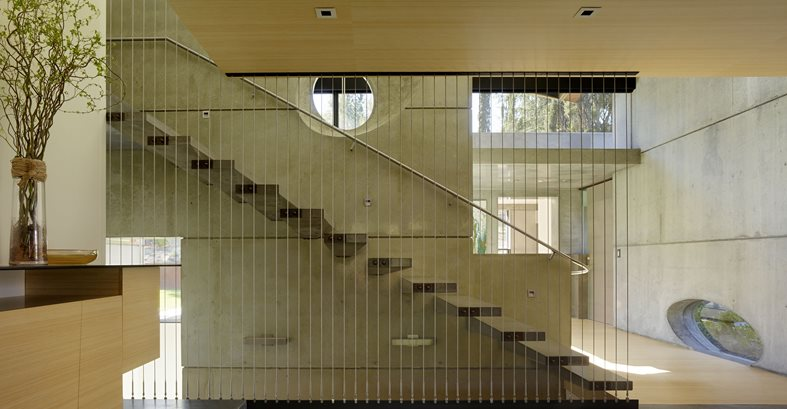 Cantilevered Stairs, Concrete Stairway Site Cheng Design Berkeley, CA
