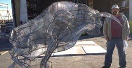 Concrete Bull Form Site Big Bamboo Studios Fairbury, NE