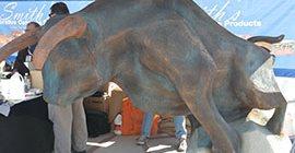 Concrete Bull Sculpture Site Big Bamboo Studios Fairbury, NE