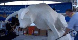 Concrete Bull Statue Site Big Bamboo Studios Fairbury, NE