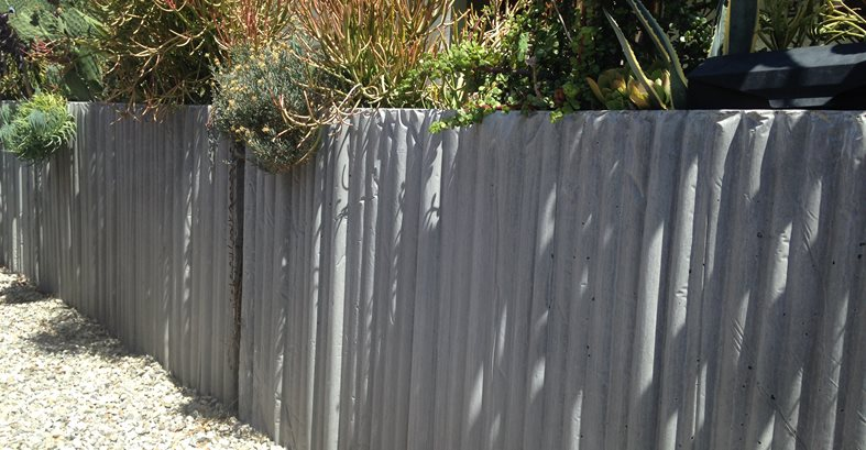 Concrete Fence Site Culloton Design Los Angeles, CA