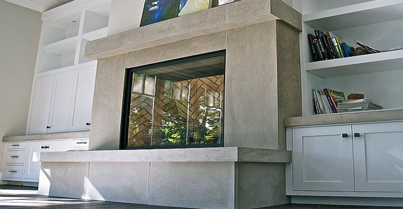 Concrete Fireplace Site Concrete Interiors Martinez, CA