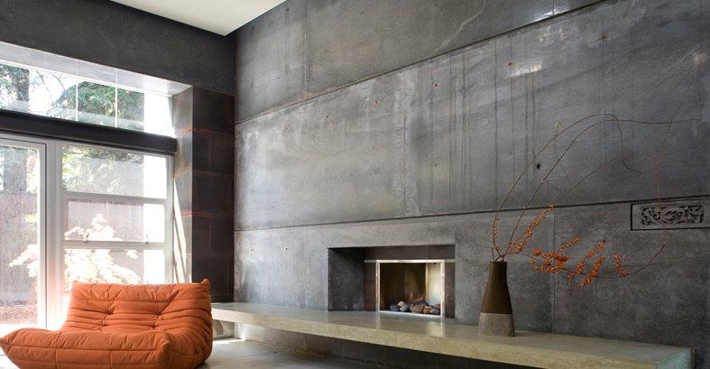 Concrete, Fireplace, Gray Site Cheng Design Berkeley, CA