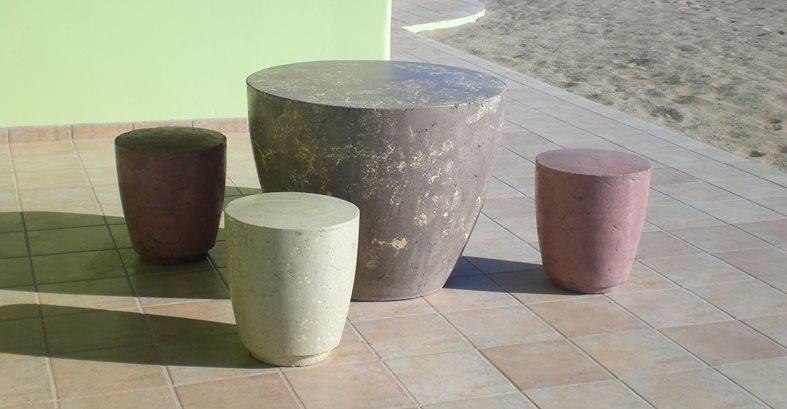 Concrete Furniture Site Corvid Supply Tuscon, AZ
