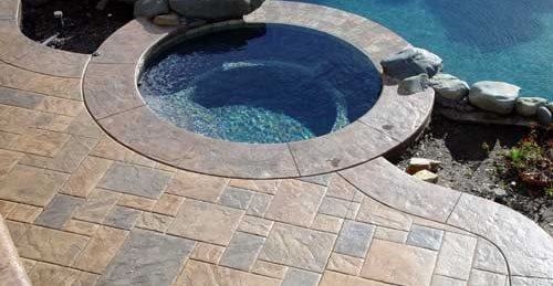 concrete toppings for swimming pool deck coatings - using a