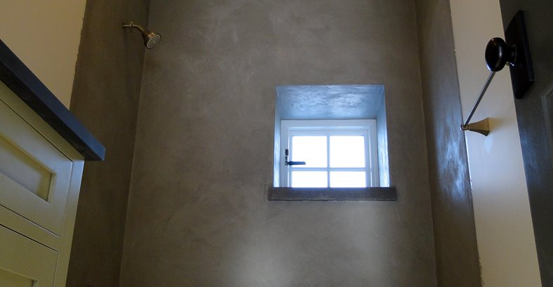 Concrete Shower Site Tellus 360 Design & Build Lancaster, PA