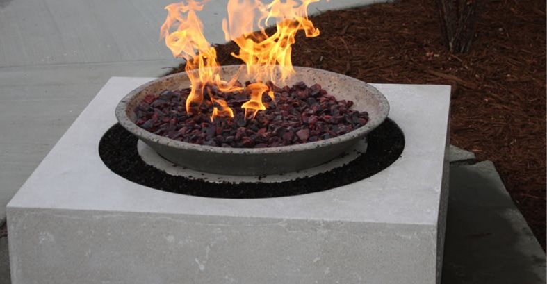 Custom Concrete Fire Pit Site Living Stone Concrete Design Candler, NC
