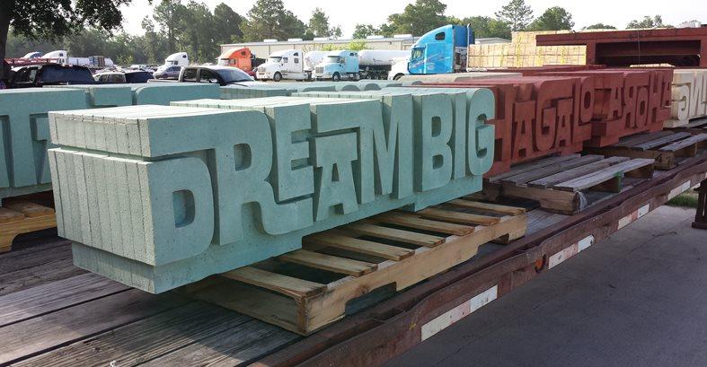 Dream Big Bench, Word Bench Site C.S.W. Creations Simonton, TX