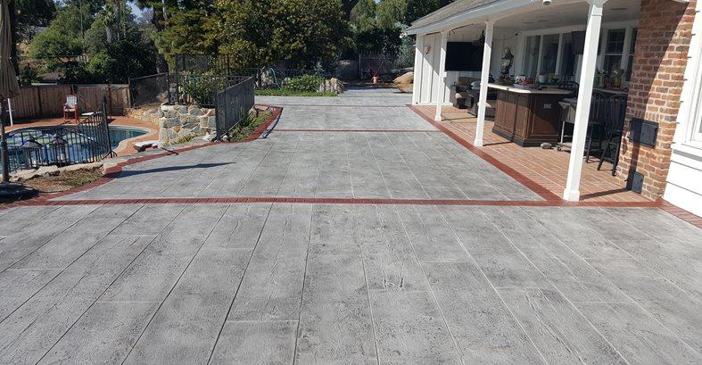 Faux Wood, Concrete Wood Site Envision Concrete Escondido, CA
